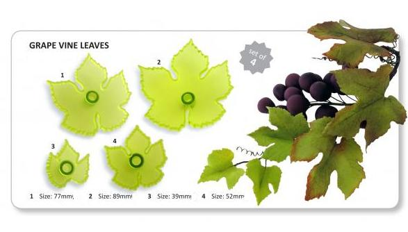 Grapevine Leaves large set of 4 (L11) - Jem Cutters