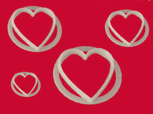 FMM Cutters - Heart cutter set 4