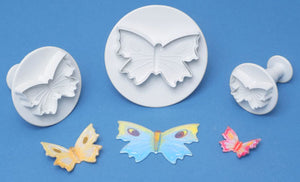 PME Cutters - Butterfly Veined Plunger Cutters. set of 3. 60mm, 45mm, 30mm