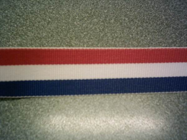 Red, White and Blue Stripe Ribbon 22mm