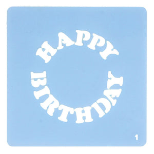 Culpitt Stencils - Happy Birthday (Cupcake Topper)