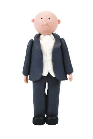Wedding Topper Claydough - Groom - Bald