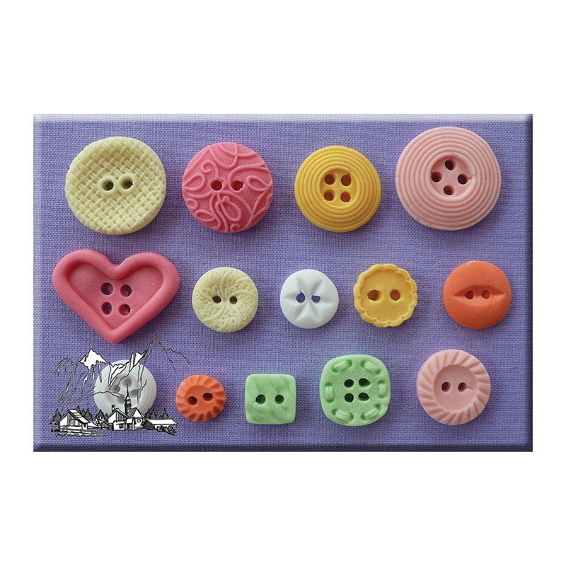Alphabet Moulds - Buttons Patterned