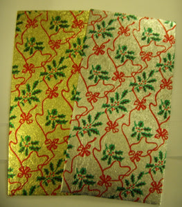 "Christmas Double Thick Log Card  8"" X 4"""