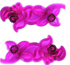 Jem Cutwork Rose set of 2