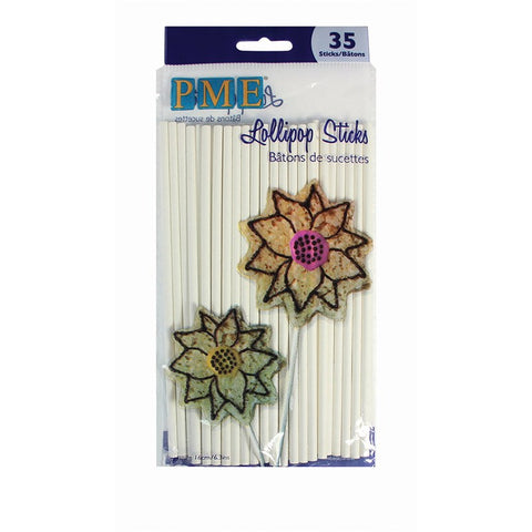 Cake Pop Sticks- 160mm long.  Pack of 35 - PME