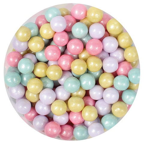 Sugar Pearls - 7mm Pastel Rainbow