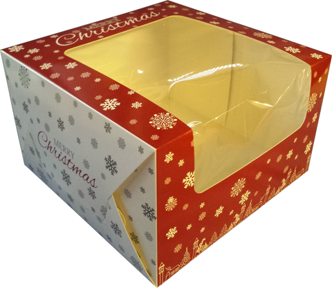 Christmas Cake Box with window