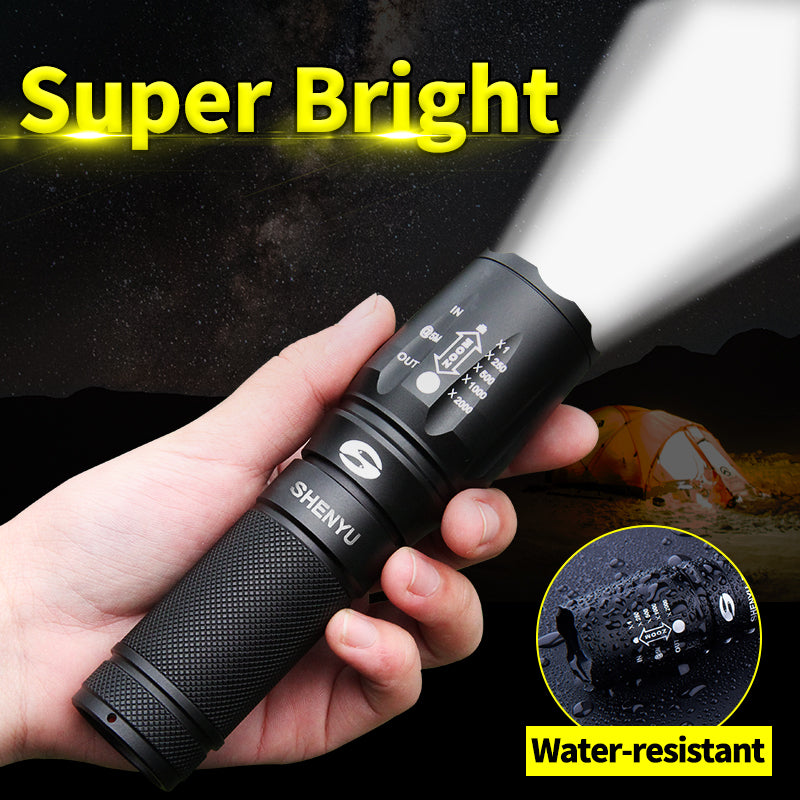 XP500 LED Flashlight | Newest Model | 3 Light Modes | Adjustable Focus | Waterproof
