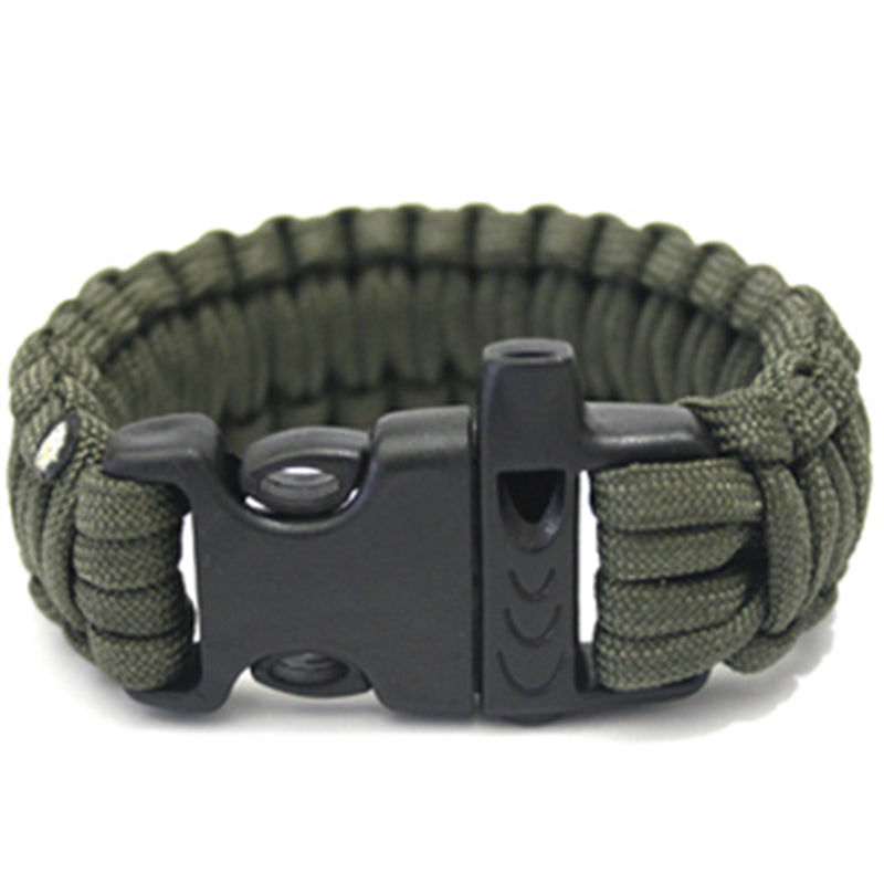 Survival Paracord Bracelet w/ Whistle - Free + Shipping