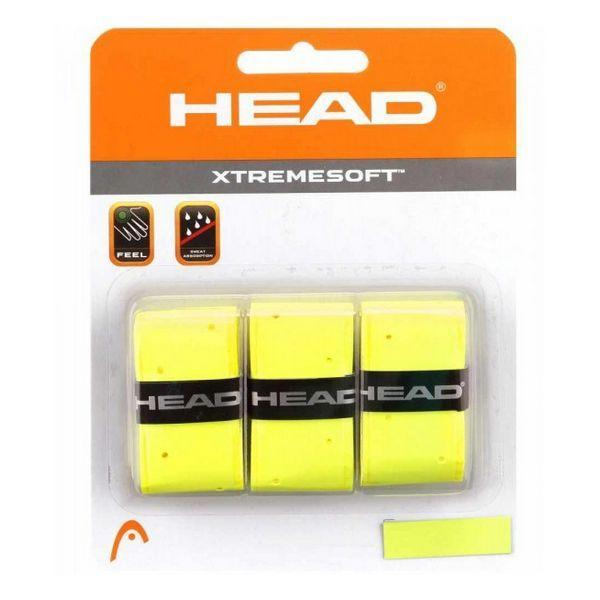 Grip de Tennis Head XTREMESOFT Jaune (3 Pcs)