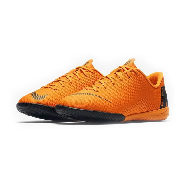 Chaussures de Football Multi-crampons pour Enfants Nike Vapor X 12 Academy JR Orange
