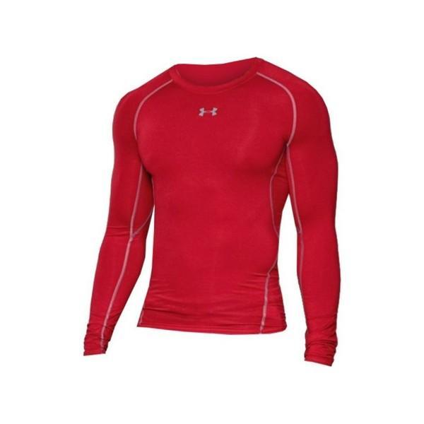 T-shirt de Compression à Manches Longues pour Homme Under Armour 1257471-600 Rouge