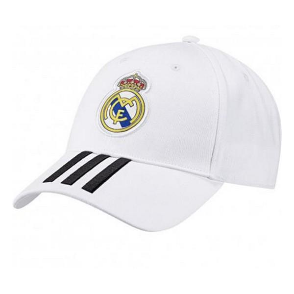 Casquette  de Sport Adidas Real Madrid 3 Stripes Blanc