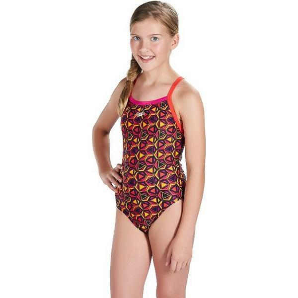 Maillot de bain Enfant Speedo Pattern Pop Allover Thinstrap Imprimé (Taille 10-12 ans)