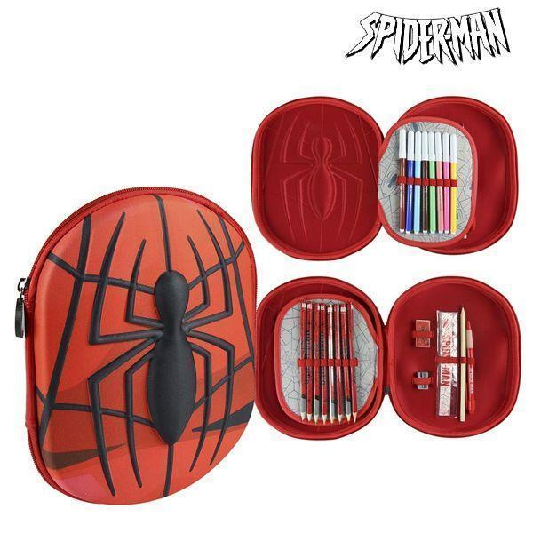 Pochette à crayons triple Spiderman