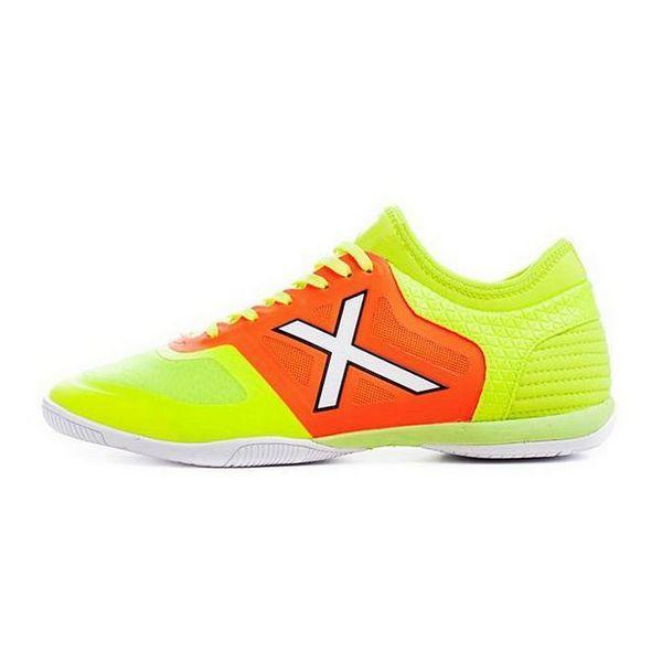 Chaussures de Futsal pour Adultes Munich Tiga Indoor 23 Vert Orange