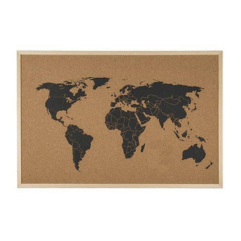 Carte du Monde Pour Post-it