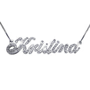 Diamonds 14k White Gold Name Necklace