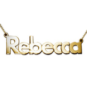 18k Gold-Plated 0.925 Silver Name Necklace - Bold Print
