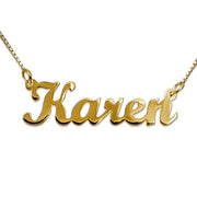 18k Gold-Plated Silver Name Necklace - Script