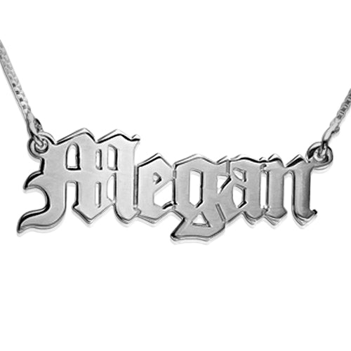 Name Necklace - Old English