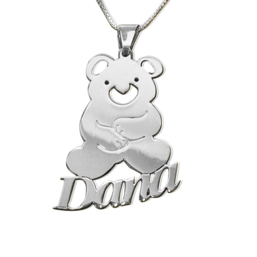 Teddy Bear Name Necklace