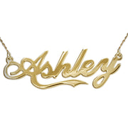 14K Gold Name Necklace - Coca Cola