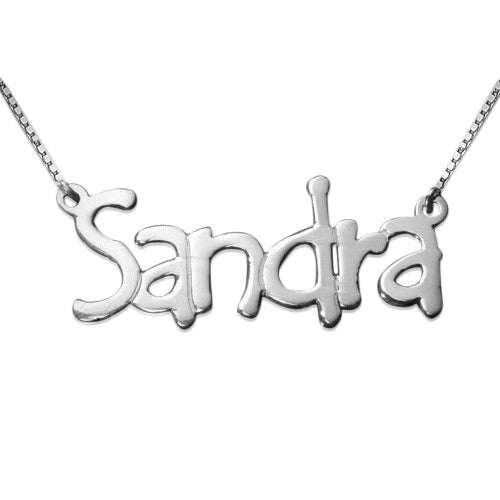 Silver Name Necklace - Tempus