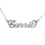 0.925 Silver Name Necklace - Smaller Version - Carrie