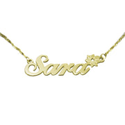 14k Gold Name Necklace - Flower