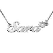 0.925 Silver Name Necklace - Flower