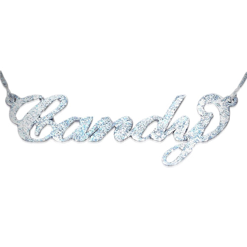 0.925 Silver Name Necklace - Carrie - Sparkling