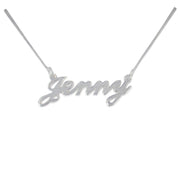 0.925 Silver Name Necklace - Smaller Version