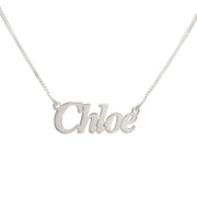 Silver Name Necklace - Smaller Version - Angel