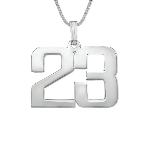 0.925 Silver Number Necklace