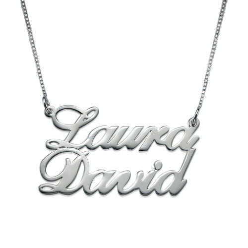 Silver Two Name Pendant