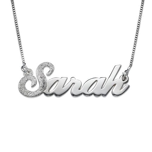 Name Necklace - Sparkling First Letter