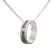 0.925 Silver Ring Necklace