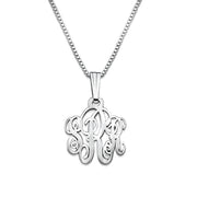 0.925 Silver Monogram Necklace