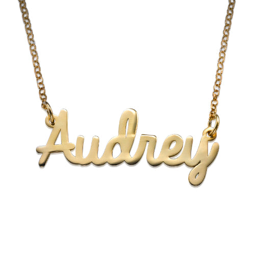 18k Gold Platied Cursive Name Necklace