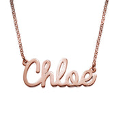 Rose Gold Plated Cursive Necklace