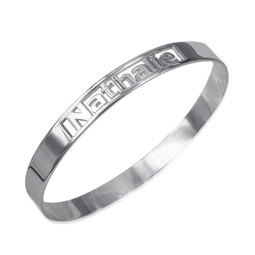 Silver Engravable Bangle Bracelet