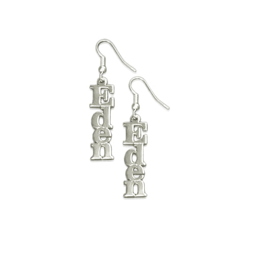 Sterling Silver Name Earrings