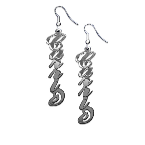 0.925 Silver Name Earrings - Carrie