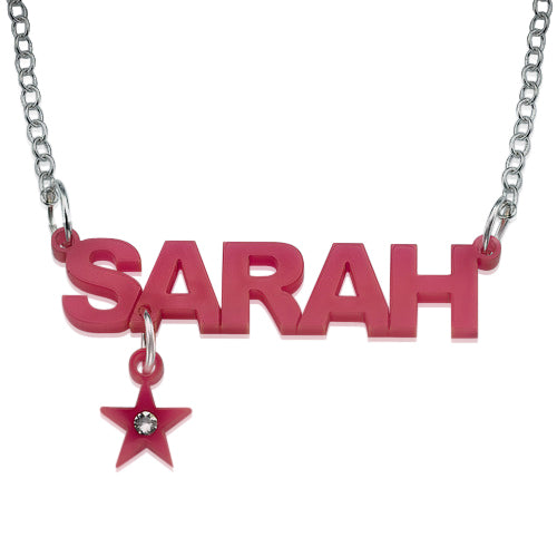 Acrylic Name Necklace - Charm
