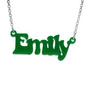 That 70's show Style Color Name Necklace
