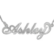 "Sterling Silver ""Carrie"" Style Name Necklace"