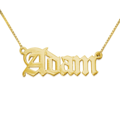 9k Gold Name Necklace - Old English