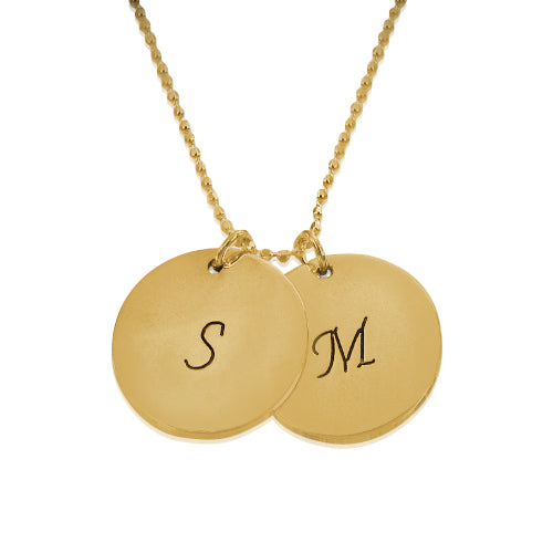 18K Gold Plated Disc Pendant Necklace